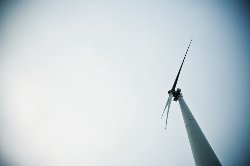 Toronto wind turbine in Exhibition Place